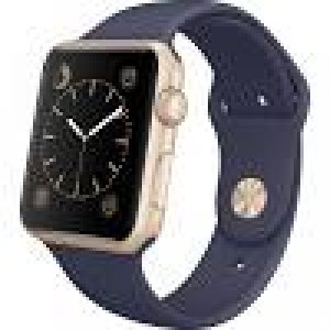 Apple Watch Sport 42mm Gold Aluminum Case with Midnight Blue Sport Band