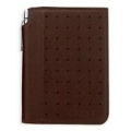 FULL-GRAIN PEBBLED BROWN LEATHER JOTTER