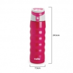 Cello Athlete Stainless Steel Bottle, 480ml, Pink