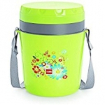 Cello Micra Insulated 4 Container Lunch Carrier, Green