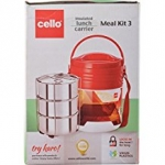 Cello Meal Kit 3 Insulated Lunch Carrier, Multicolor