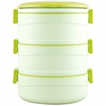 Cello Amaze Insulated 3 Container Lunch Carrier, Green