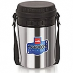 Cello Carbon Insulated Lunch Carrier Set, 3 Container, Black