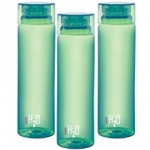 Cello H2O Unbreakable  Bottle , 1 Litre, Set of 3, Green