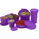 Cello Max Fresh Club Polypropylene Container Set, 6-Pieces, Purple