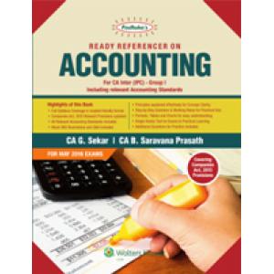 Shree gurukripa book of Padhuka's Ready Referencer on Accounting for CA Inter (IPC) Group I