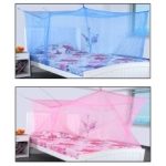 MODICARE PRODUTS - Modicare Fashion Blue & Pink Single Bed Mosquito Net - Pack of 2