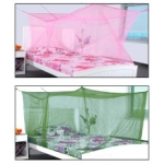 MODICARE PRODUCTS - Modicare Fashion Green & Pink Single Bed Mosquito Net - Pack of 2