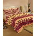 Raymond Double Cotton Ethnic Bed Sheet