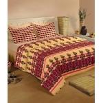 Raymond Double Cotton Ethnic Bed Sheet