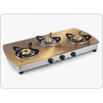 SUNFLAME PRODUCTS - Designer Glass Cooktops Crystal Metal Art Gold 3B SS