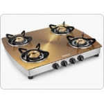 SUNFLAME PRODUCTS - Designer Glass Cooktops Crystal Metal Art Gold 4B SS