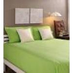 Tangerine Green Cotton King Size Bed Sheet - Set of 3