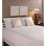 Tangerine White Cotton King Size Bed Sheet - Set of 3