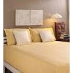 Tangerine Yellow Cotton King Size Bed Sheet - Set of 3