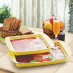 Cello Rejoice Plus Tray (Set of 2) Yellow