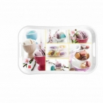 Cello Capri Tray Large - Macroons