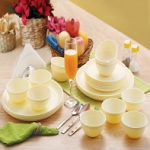 Cello Ware Set Round (24 pcs) M.Pearl