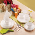Cello Ware Set Round (18 pcs) White