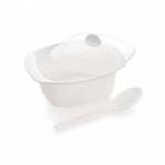 Cello Ware Serving Bowl With Spoon Square White