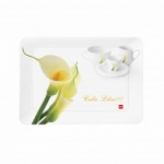 Cello Fiesta Tray Large - Calla Lillies