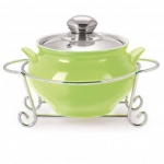 Cello GUSTO HANDI CASSEROLE WITH METAL STAND 1500 ml GREEN